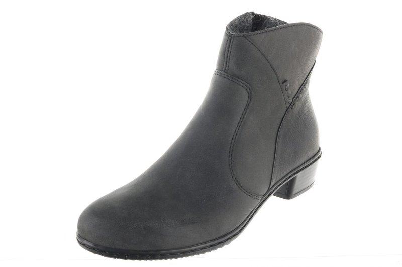 1e074a546787 Rieker anthrazit. Damen Stiefelette Boot warm